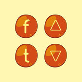 Guziki pomarańczowy — Wektor stockowy