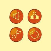 Orangen buttons — Stockvektor