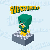 Superhero boy character — Wektor stockowy