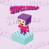 Superhero girl  character — Stockvektor