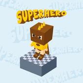 Superhero boy character — Stockvektor