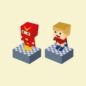 Spielfigur — Stockvektor