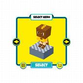 Game block character — Stockvektor