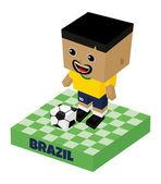 Brazil soccer character — Stock Vector