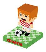 Croatia soccer character — Stock Vector