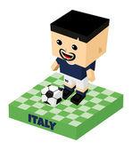 Itálie fotbal bloku znak — Stock vektor