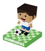 Honduras soccer block character — Stok Vektör