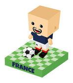 Frankreich Fussball-Block-Charakter — Stockvektor