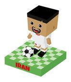Iran voetbal blokteken — Stockvector