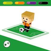 Soccer goalkeeper character — Stock Vector