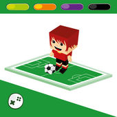 Soccer character — Stock Vector
