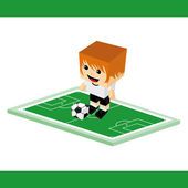 World soccer  character — Stock Vector
