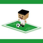 Dünya Futbol karakter — Stok Vektör