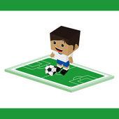 World soccer  character — Stock Vector
