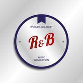 Ритм-энд-блюз музыка — Cтоковый вектор