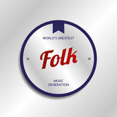 Folk music — Stock Vector