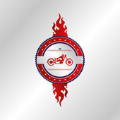 Chopper motorcycle sticker — Vettoriale Stock