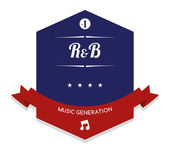 Rhythm and blues Music label — Stock Vector