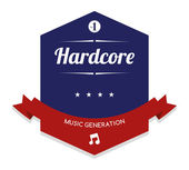 Hardcore Music label — Stock Vector