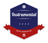 Instrumental Music label — Stock Vector
