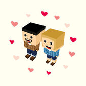 Love couple cartoon — Stock Vector