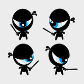Black ninja — Stock Vector