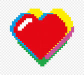 Valentine pixel art theme — Stock Vector