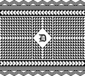 Retro pattern art — Vector de stock