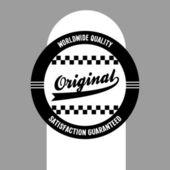 Original vintage label — Stock Vector