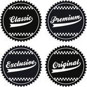 Vintage label sticker — Stock Vector