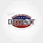 Detroit emblem — Stock Vector