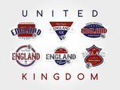 United kingdom  emblem set — Vector de stock