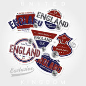 United kingdom  emblem set — Stock Vector