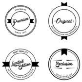 Quality label art set — Stock Vector