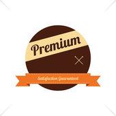 Premium  label sticker — Stock Vector