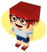 Man cartoon character — Stock Vector