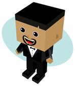 Tuxedo man character — Stock Vector