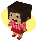 Personaje de dibujos animados mujer — Vector de stock
