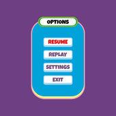 Game menu template — Stock Vector