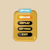 Modello di menu di gioco — Vettoriale Stock