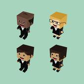 Cartoon character pack — Stock Vector