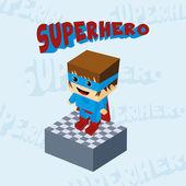 Personaje niño superhéroe — Vector de stock
