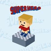 Superhero boy character — Stock Vector