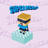 Superhero girl character — Stock Vector