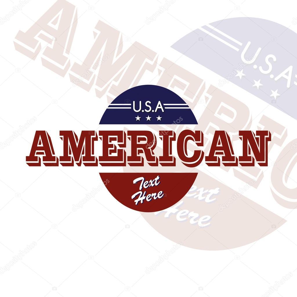 美国国徽贴纸艺术 — 图库矢量图片#49076653
