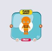 Player select menu — Stock Vector