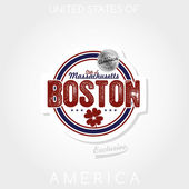 Emblem boston — Stock Vector