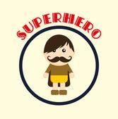 усы маленький герой — Cтоковый вектор
