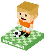 персонаж нидерланды футбол — Cтоковый вектор