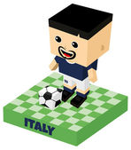 Italy soccer character — Vettoriale Stock